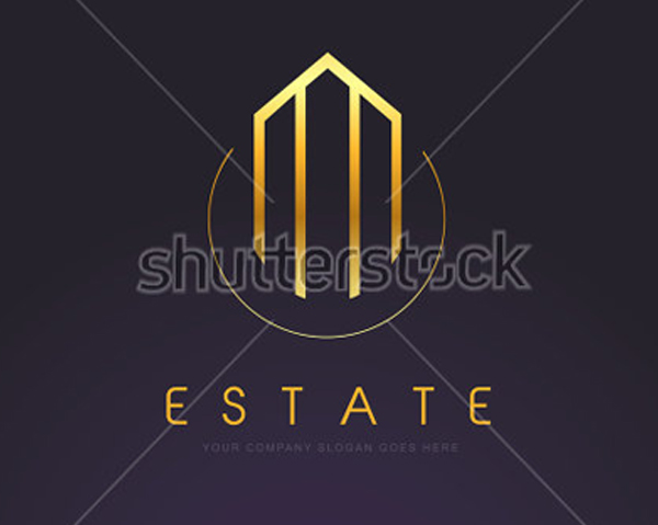 Gold Building Logo Template