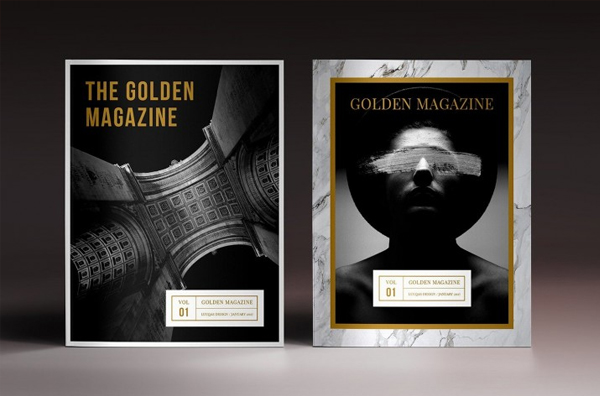 Golden Minimal Magazine