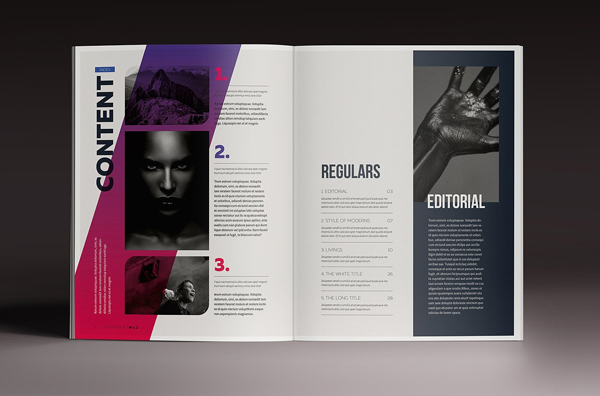 Gradient Minimal Magazine Indesign Template