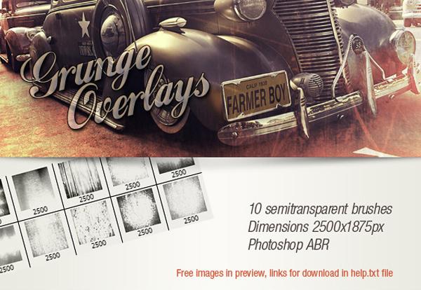 Grunge Overlays Photoshop Brushes