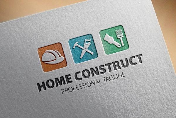 Home Construct Logo Template