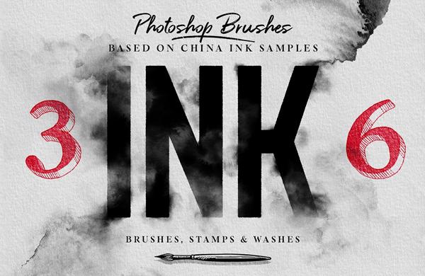 Ink Photoshop Brushes
