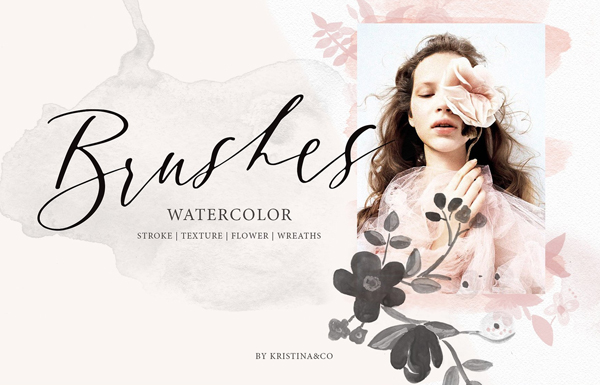Inspiration Watercolor Photoshop Brushes