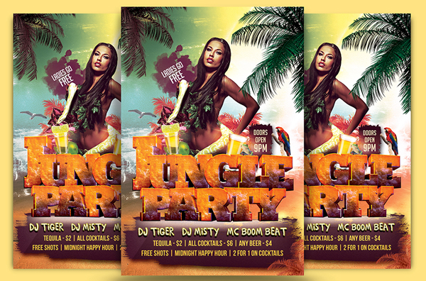 Jungle Beach Party Flyer Template