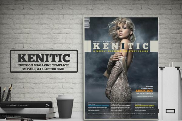 Kinetic Minimal Magazine Template
