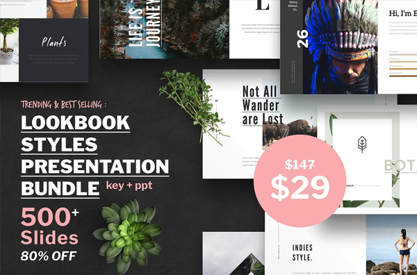Look Book Style PowerPoint Presentation