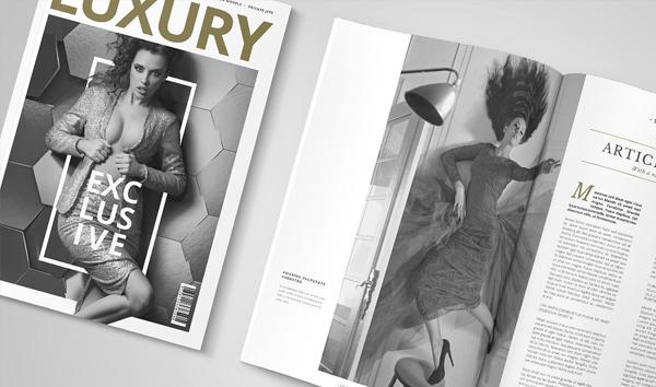 Luxury Minimal Magazine InDesign Template