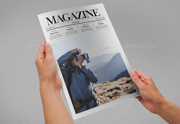 Minimal Style Magazine Template