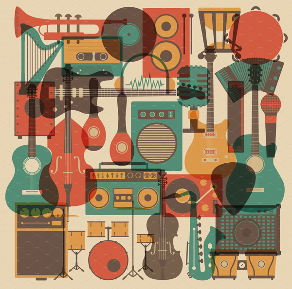 Music Abstract icons