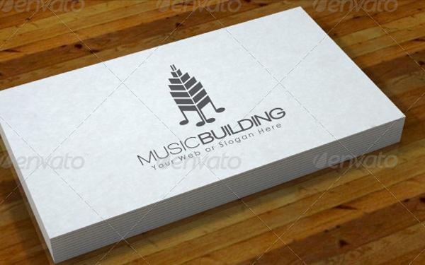 Music Building Logo Design