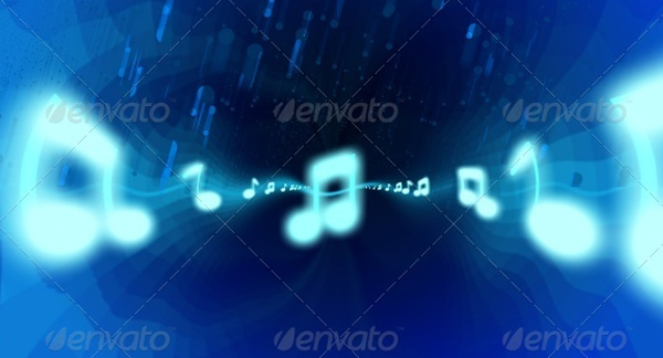 Music Melody Youtube Background Template