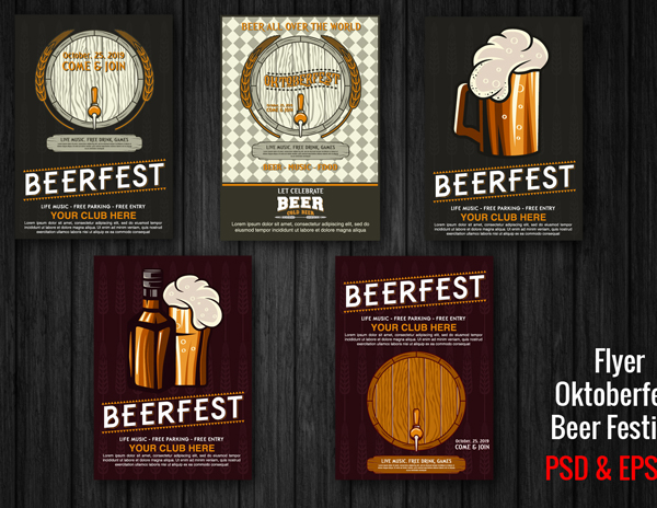 Beer Fest Menu Templates
