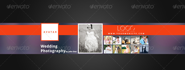 Photographer Youtube Banner Background Template