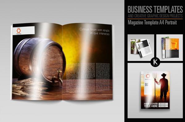 Portrait Minimal Magazine