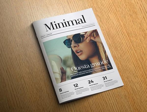 Professional Quality Minimal Magazine