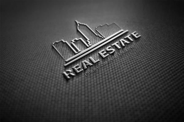 Real Estate Modern Building Logo Design