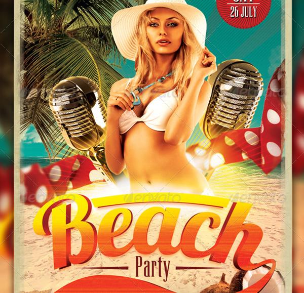 Retro Beach Party Flyer