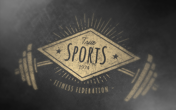 Retro Gym Logo Template