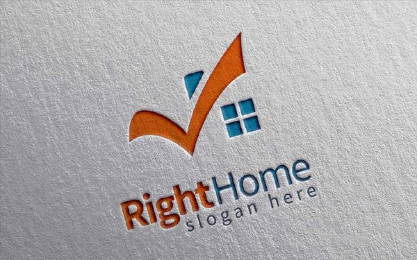 Right Home Logo Designs