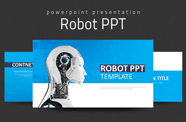 Robot PowerPoint Presentation Template