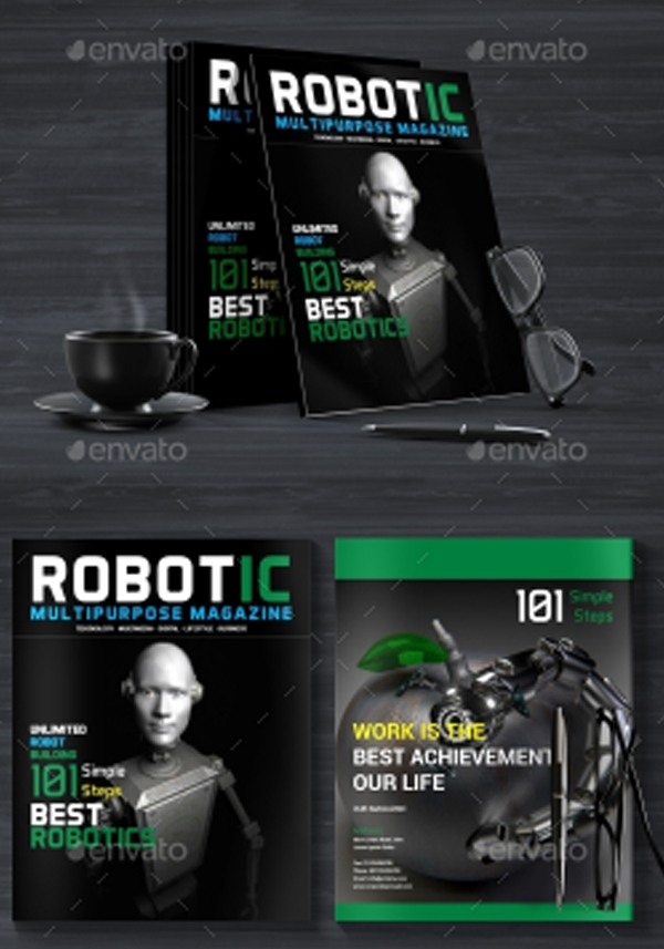 Robotic Magazine Design Templates