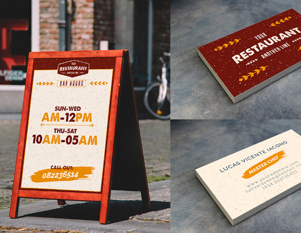 Rustic Pub Menu Illustrator Template
