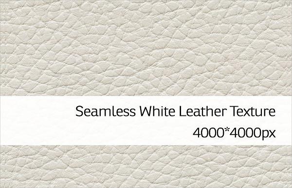 Seamless White Leather Texture