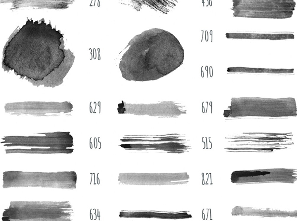Simple Handmade Watercolor Photoshop Brushes