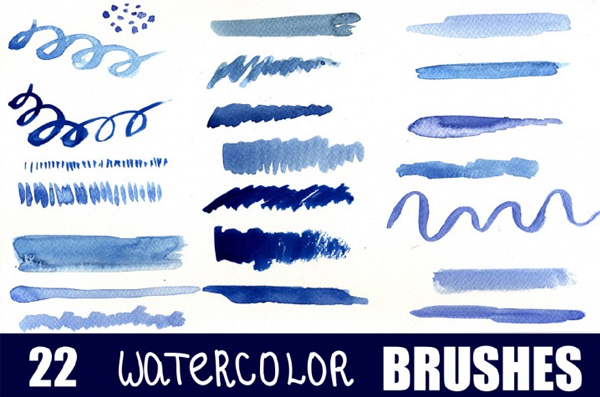 Simple Watercolor Brushes for Photoshop