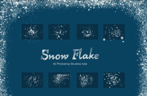Snow Flake Photoshop Brushes