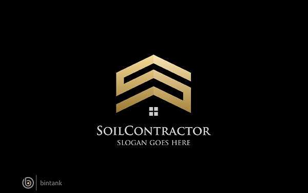 Soil Contractor Building Logo Design