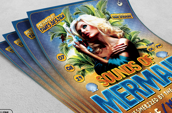 Sounds Of Mermaid Beach Party Flyer