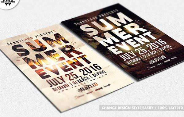 Summer Beach Event Party Flyer Template