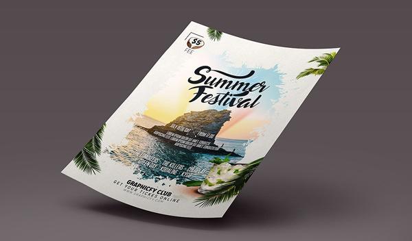 Summer Festival Beach Party Flyer Template