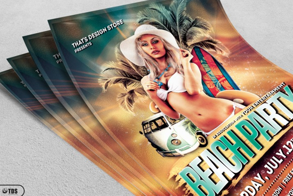 Summer Holiday Beach Party Flyer Template