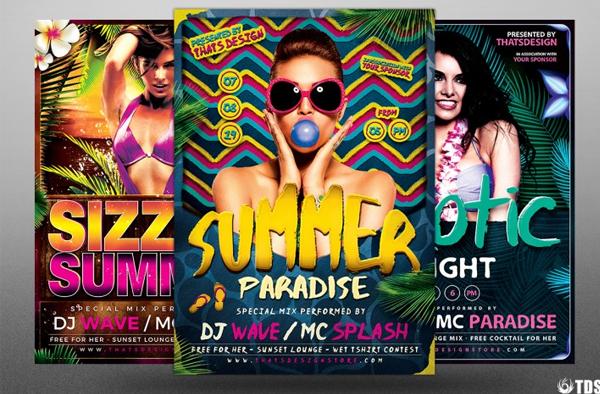 Summer Paradise Beach Party Flyer Bundle