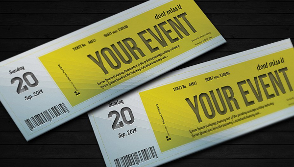 36 Blank Ticket Templates Free PSD AI Vector EPS Format Download