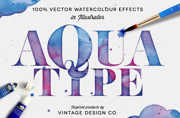 Vector Watercolor Photoshop Effect Brush