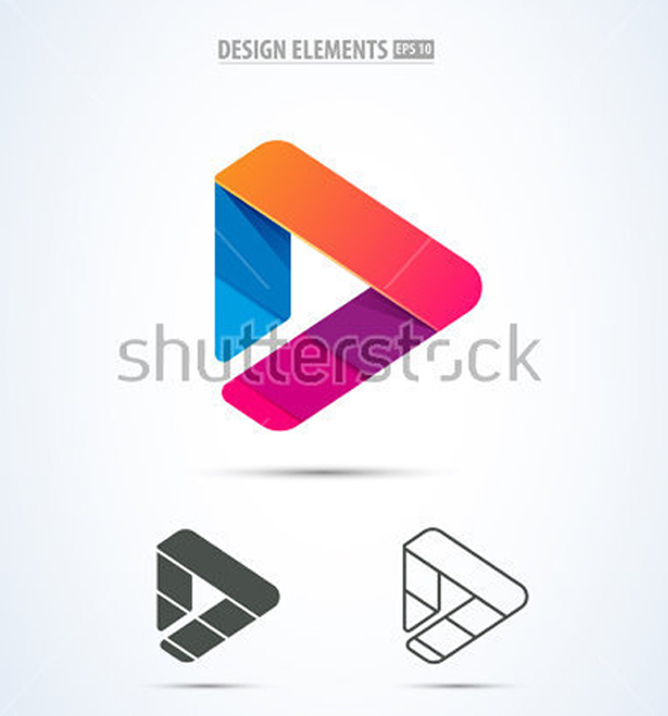 Video Application Android Icon Design Templates