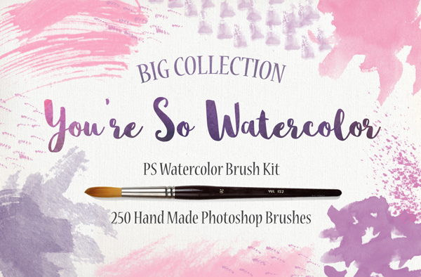 Watercolor Photoshop Brush Kit