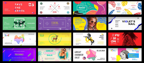 Web Banner and Youtube Background Templates Bundle