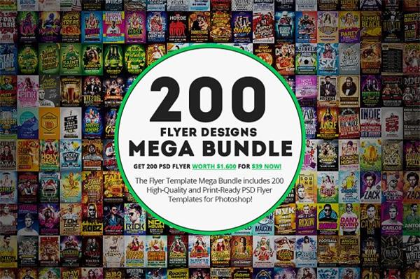 200 Mega BundleFlyer Templates