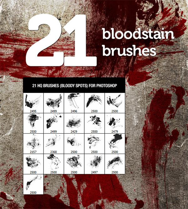 Bloodstain Photoshop 21 Brushes