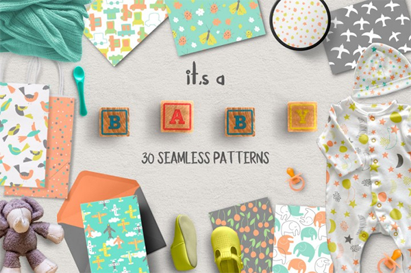 Baby Seamless Patterns Design
