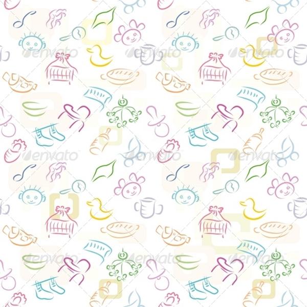 Baby Background Pattern Design