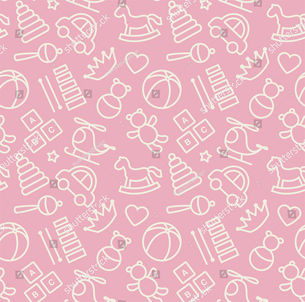 Baby Toys Seamless Patterns