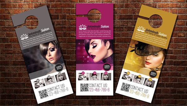 Beauty Salon Door Hanger Designs