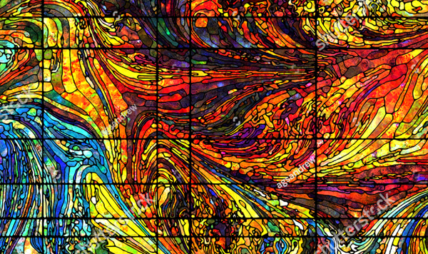 Best Colorful Stained Glass Patterns Texture
