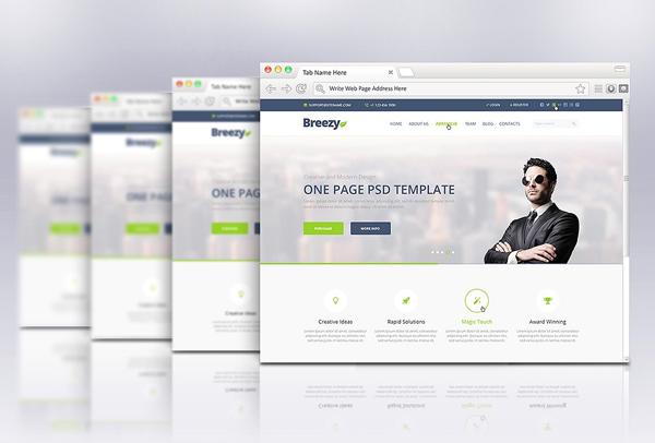 Best Web Browser Mockup Template