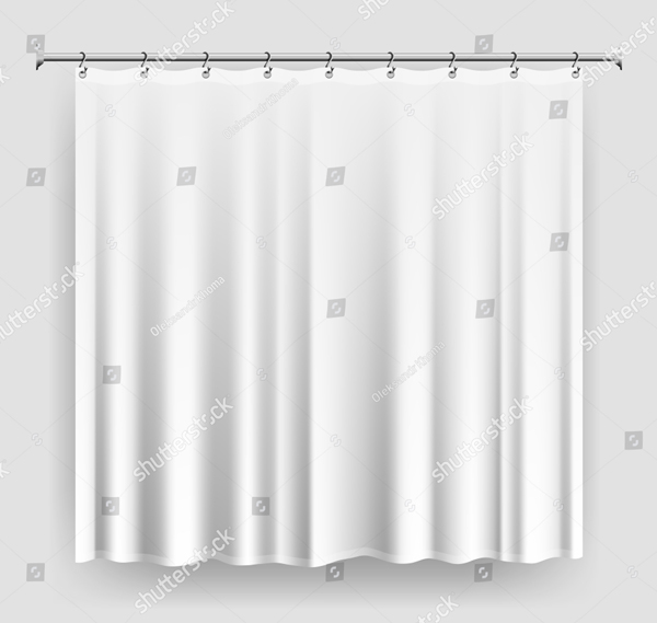 Blank Curtain Mock-up Template